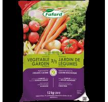 Terreau 3 /1 pour jardin de légumes (Bio) - 30 L