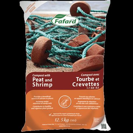 Compost avec tourbe et crevettes (Bio) - 30L