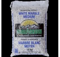 "Marbre blanc Moyen Quali Grow (½"") - 18KG"