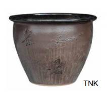 Pot 6502 Temokku black C 30cm D x 23cm H