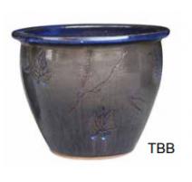 Pot 6502 Temokku bleu A 38cm D x 28cm H