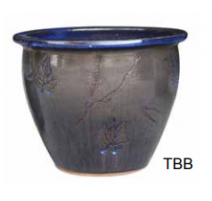 Pot 6502 Temokku bleu A 30cm D x 23cm H