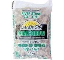 """Pierre de rivière moyenne Quali Grow (¾""""-1""""¼) - 18KG"""