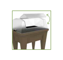 Espace potager VEG&Table MAX Gris anthracite + Serre de Culture