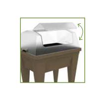 Espace potager VEG&Table MAX Taupe + Serre de Culture